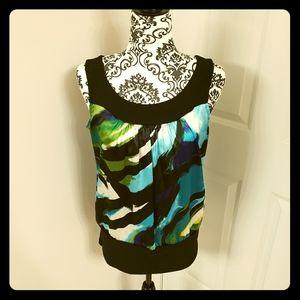 B-wear colorful sleeveless blouse
